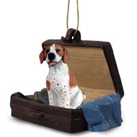 Pointer Brown & White Traveling Companion Ornament
