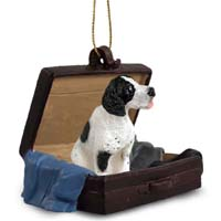 Pointer Black & White Traveling Companion Ornament