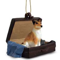 Collie Smoth Hair Traveling Companion Ornament