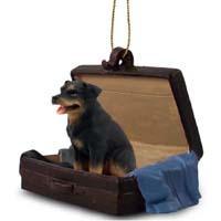 Rottweiler Traveling Companion Ornament
