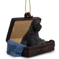 Cocker Spaniel English Black Traveling Companion Ornament
