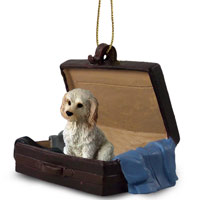 Labradoodle Cream Traveling Companion Ornament