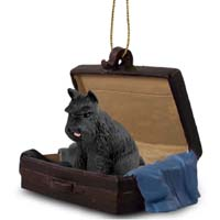 Schnauzer Black Traveling Companion Ornament