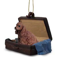 Cocker Spaniel Brown Traveling Companion Ornament