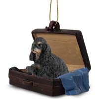 Cocker Spaniel Black & Tan Traveling Companion Ornament