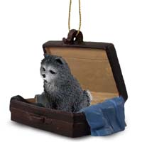 Chow Blue Traveling Companion Ornament