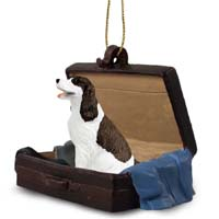 Springer Spaniel Liver & White Traveling Companion Ornament