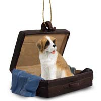Saint Bernard w/Rough Coat Traveling Companion Ornament