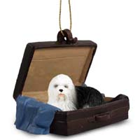 Old English Sheepdog Traveling Companion Ornament