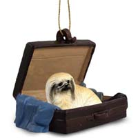 Pekingese Traveling Companion Ornament