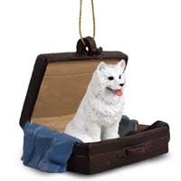 Samoyed Traveling Companion Ornament