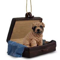 Shar Pei Brown Traveling Companion Ornament
