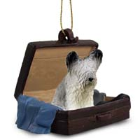 Skye Terrier Traveling Companion Ornament