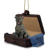 Staffordshire Bull Terrier Brindle Traveling Companion Ornament