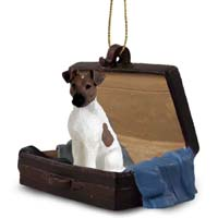 Fox Terrier Brown & White Traveling Companion Ornament