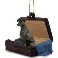 Greyhound Brindle Traveling Companion Ornament