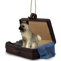 Akita Gray Traveling Companion Ornament