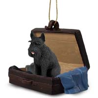 Schnauzer Giant Black Traveling Companion Ornament