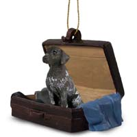German Short Haired Pointer Traveling Companion Ornament