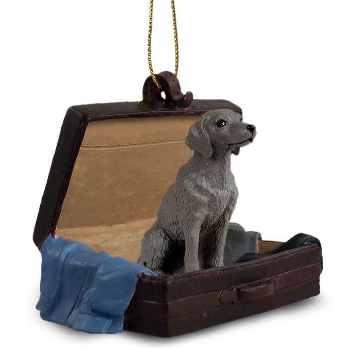 Weimaraner Traveling Companion Ornament