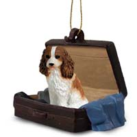 Cavalier King Charles Spaniel Brown & White Traveling Companion Ornament