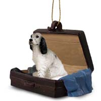 English Setter Belton Blue Traveling Companion Ornament