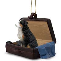 Australian Shepherd Tricolor w/Docked Tail Traveling Companion Ornament