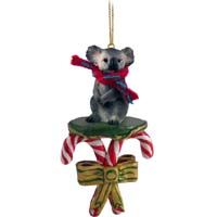 Koala Candy Cane Ornament