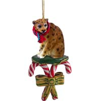 Leopard Candy Cane Ornament