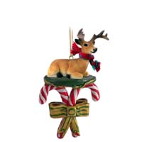 Deer Buck Candy Cane Ornament