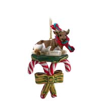Guernsey Bull Candy Cane Ornament
