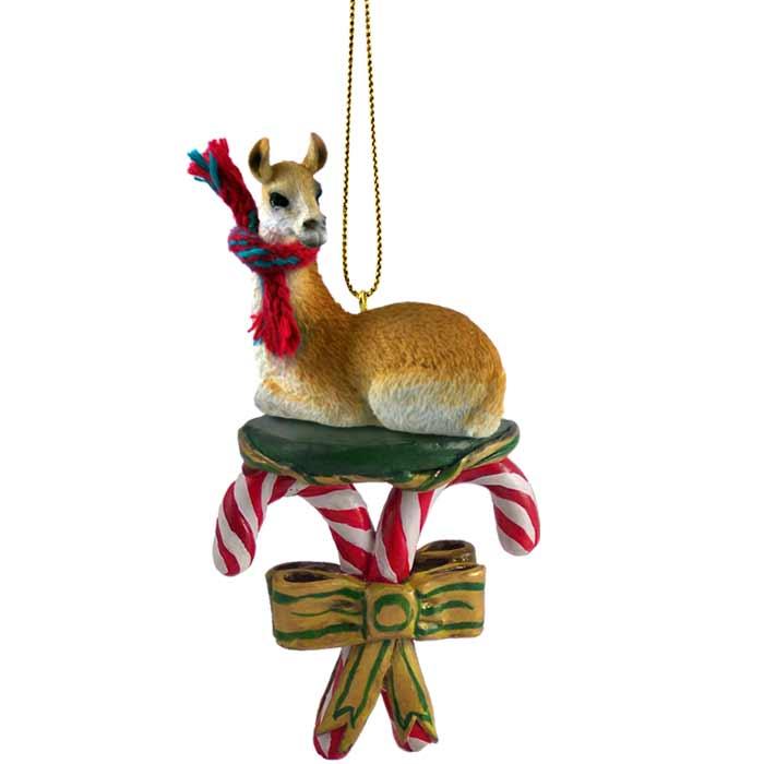 llama candy cane ornament