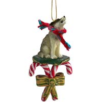 Wolf Timber Candy Cane Ornament