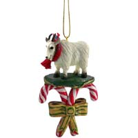 Mountain Goat Candy Cane Ornament