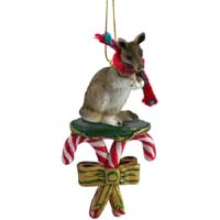 Kangaroo Candy Cane Ornament