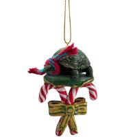 Turtle Candy Cane Ornament