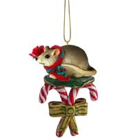 Mouse Candy Cane Ornament