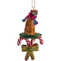 Cheetah Candy Cane Ornament