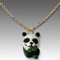 Panda Tiny One Head Pendant