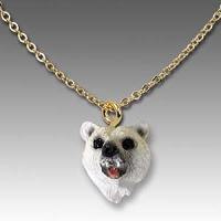 Bear Polar Tiny One Head Pendant