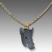 Razorback Hog Tiny One Head Pendant
