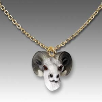Sheep Dahl Tiny One Head Pendant