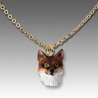 Fox Red Tiny One Head Pendant