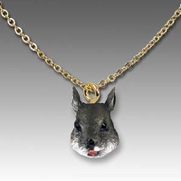 Squirrel Gray Tiny One Head Pendant