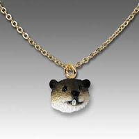 Beaver Tiny One Head Pendant
