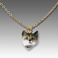 Bobcat Tiny One Head Pendant