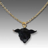 Pig Black Tiny One Head Pendant
