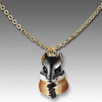 Chipmunk Tiny One Head Pendant