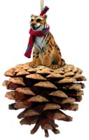 Tiger Pinecone Pet Ornament