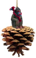 Mandrill Pinecone Pet Ornament